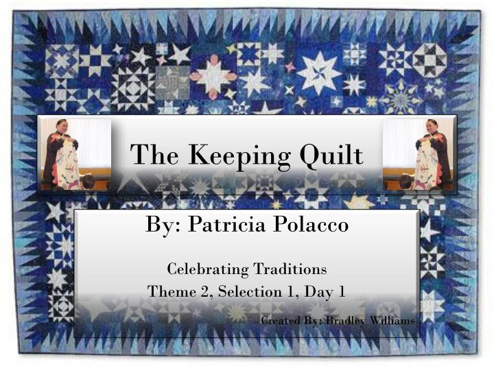the keeping quilt n.