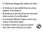 17 retinal disparity refers to the