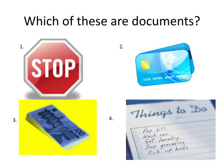 which of these are documents n.