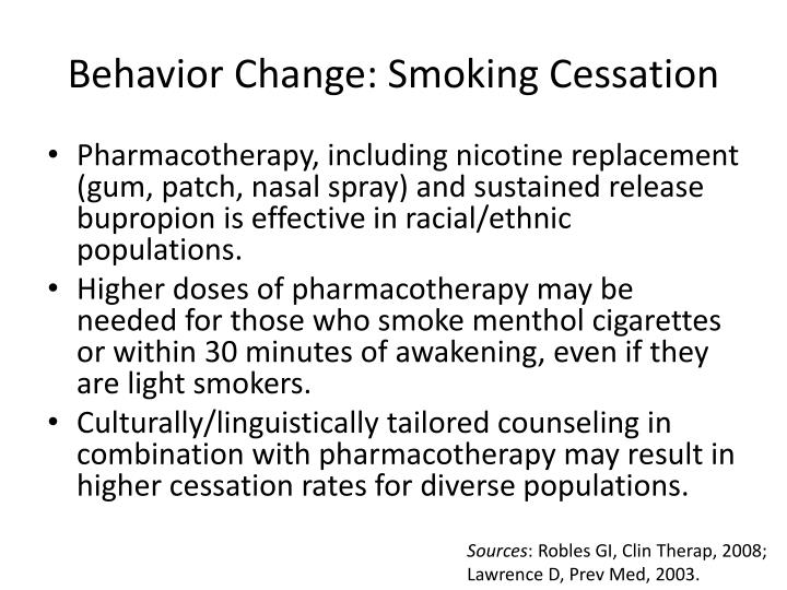 Behavior Change: Smoking Cessation