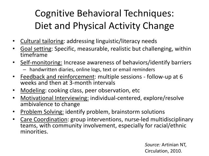 Cognitive Behavioral Techniques: