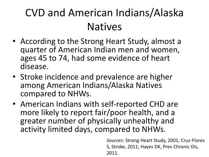 CVD and American Indians/Alaska Natives