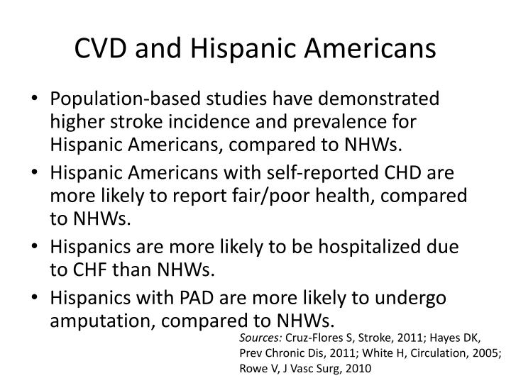 CVD and Hispanic Americans