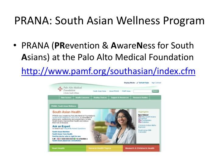 PRANA: South Asian Wellness Program