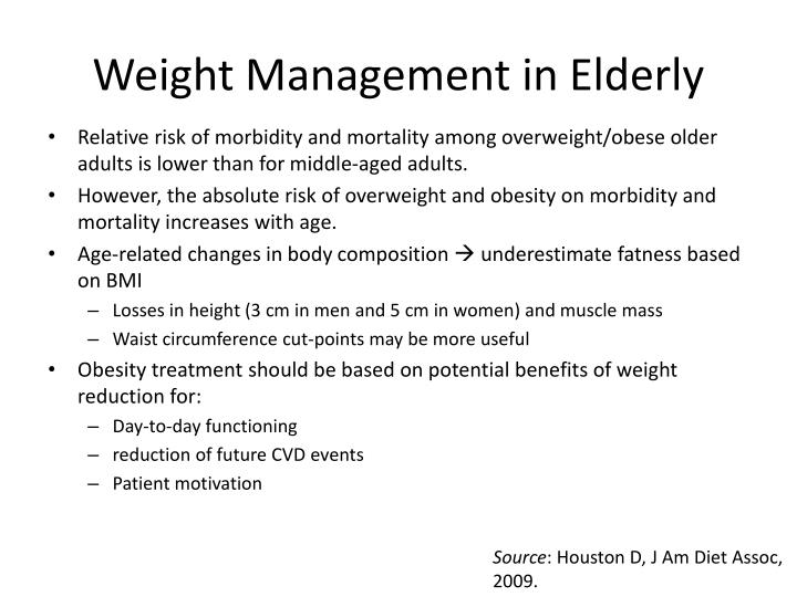 Weight Management in Elderly