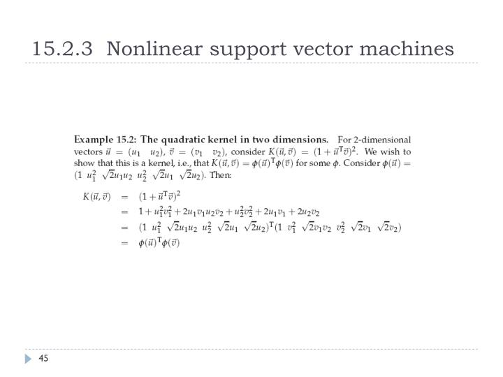 15.2.3  Nonlinear support vector machines