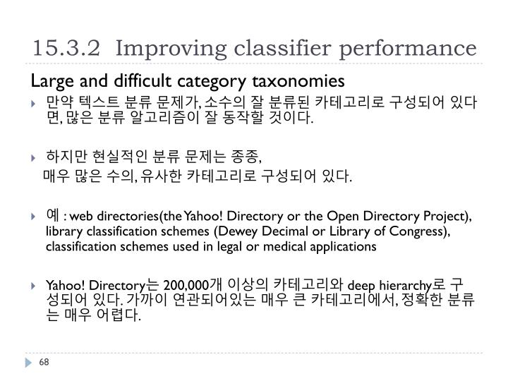 15.3.2  Improving classifier performance