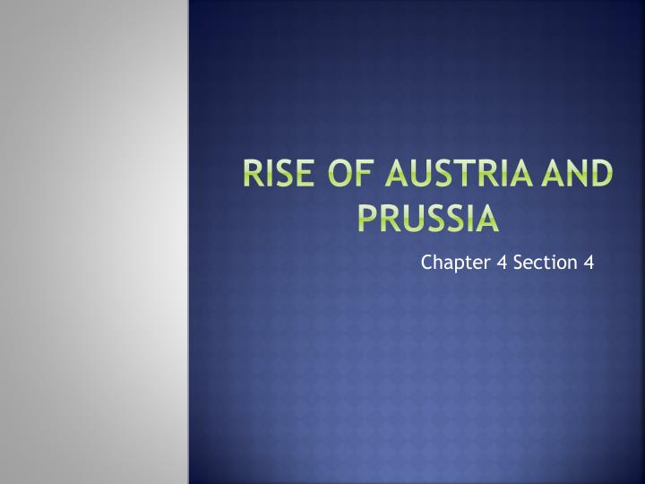 various factors contributing to the rise of prussia between 1640 and 1786 Analyze the military, political and social factors that account for the rise of prussia between 1640 and 1786 analyze the major ways through tsar pete the great (1689-1725) sought to reform his society and its institutions in order to strengthen russia and its position in europe.