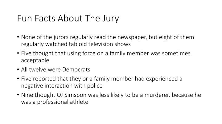 Fun Facts About The Jury