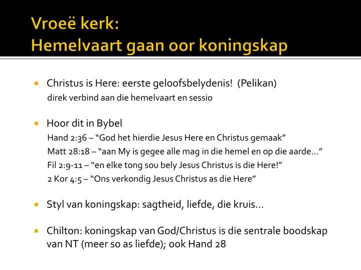 Vroeë kerk: