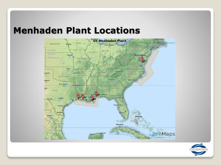 Menhaden Plant Locations