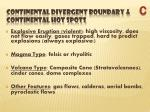 continental divergent boundary continental hot spots