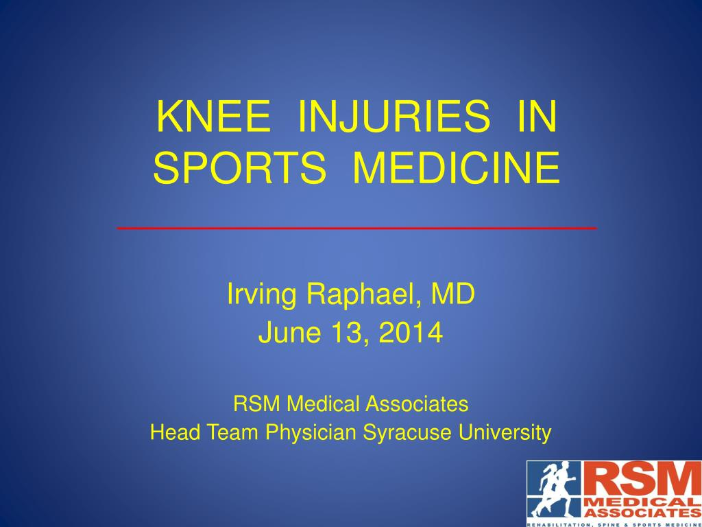 Ppt Knee Injuries In Sports Medicine Powerpoint Presentation Free Download Id 2030365