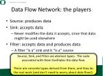 data flow network the players