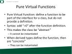 pure virtual functions