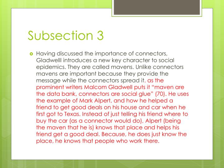 Subsection 3