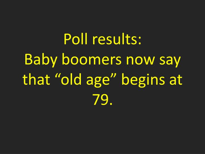 Poll results: