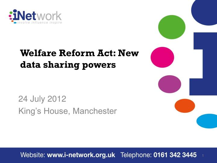 welfare reform act new data sharing powers n.