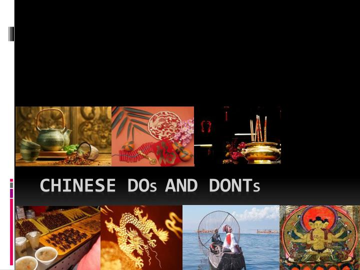 chinese do s and dont s n.
