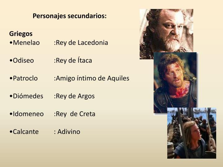 Personajes secundarios: