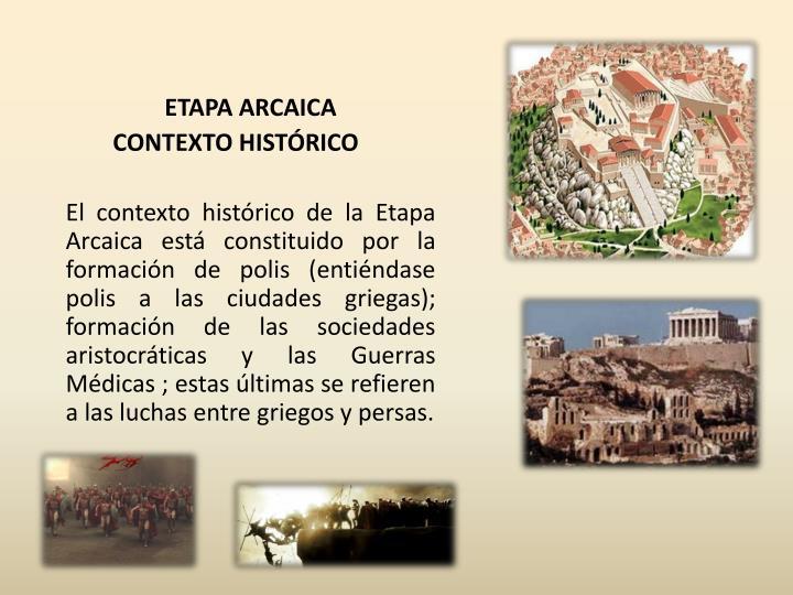 ETAPA ARCAICA