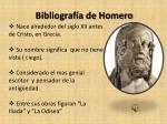 bibliograf a de homero