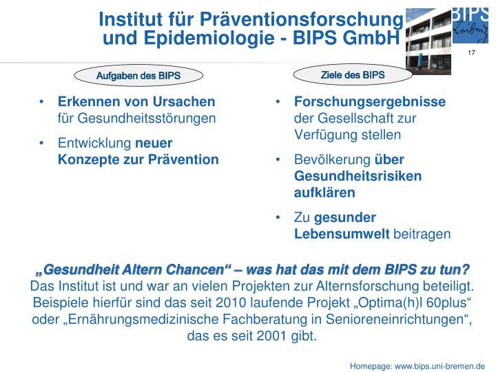 Institut für Präventionsforschung