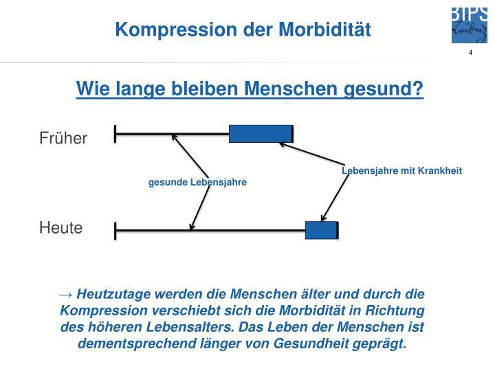Kompression der Morbidität