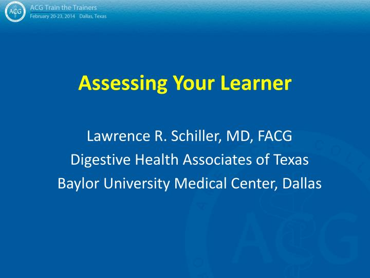 assessing your learner n.