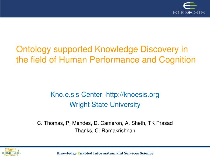 ontology supported knowledge discovery in the field of human performance and cognition n.