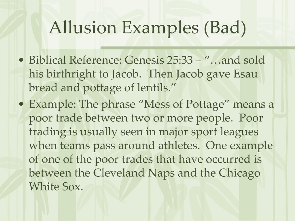 allusion examples for students