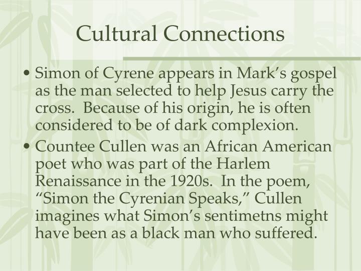 simon the cyrenian speaks analysis