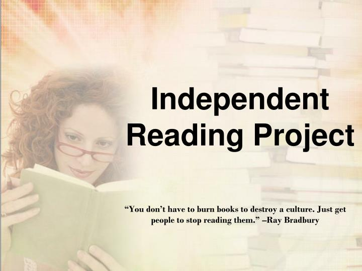 independent reading project n.