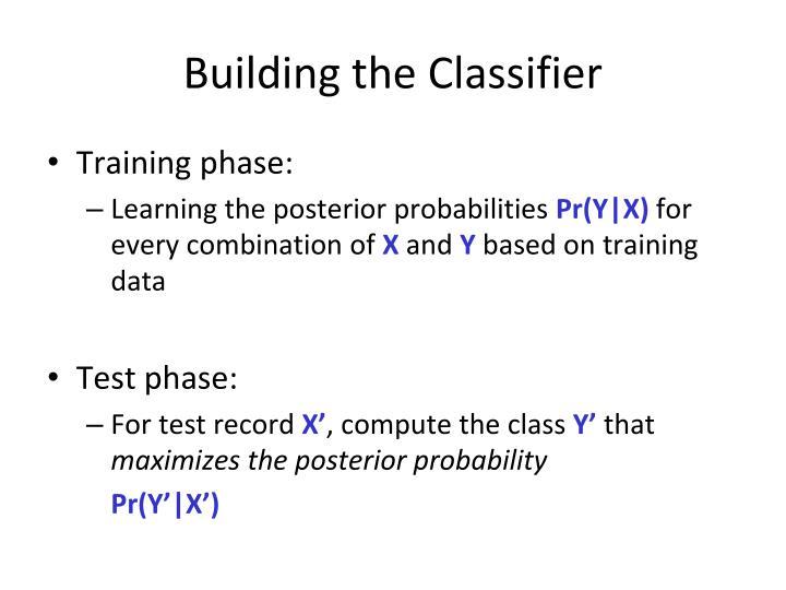 Building the Classifier