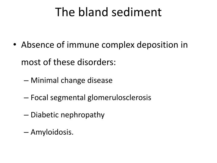 The bland sediment