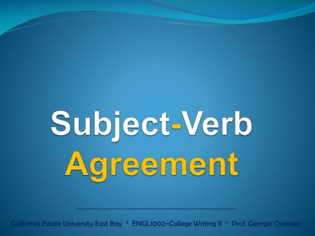 Ppt Subject Verb Agreement Powerpoint Presentation Id2030768