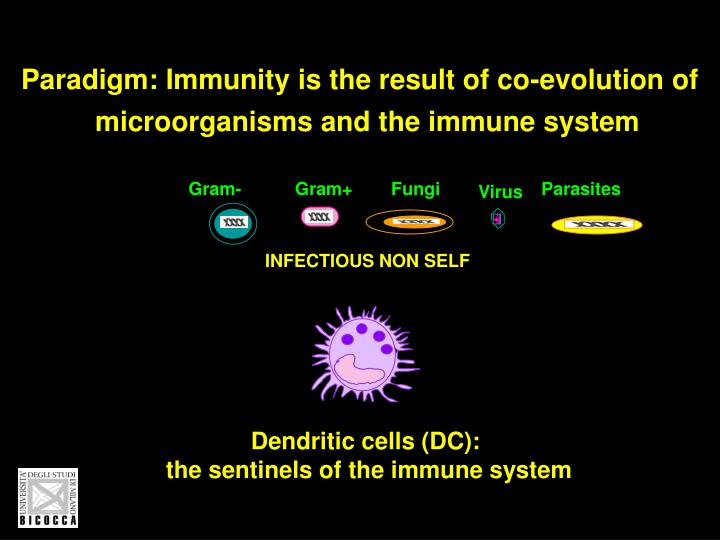 Paradigm: Immunity is the result of co-evolution of