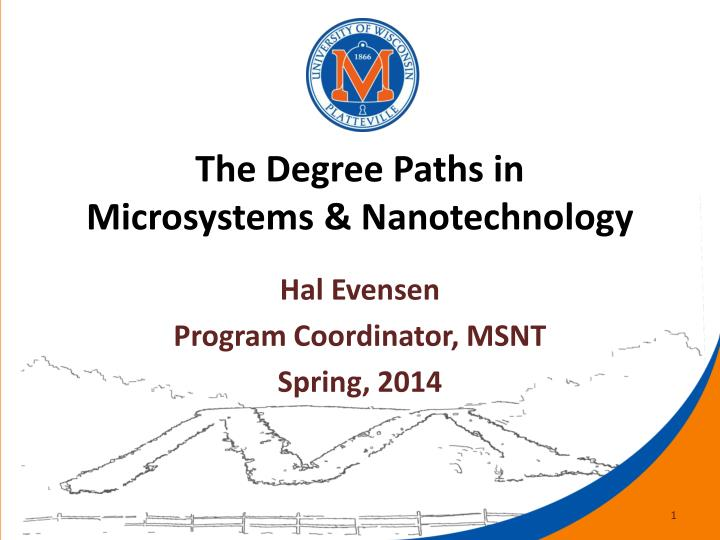 the degree paths in microsystems nanotechnology n.