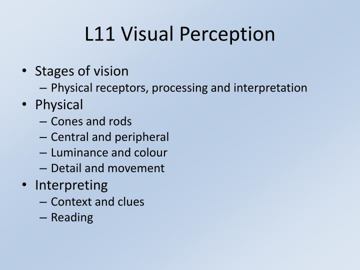 L11 Visual Perception
