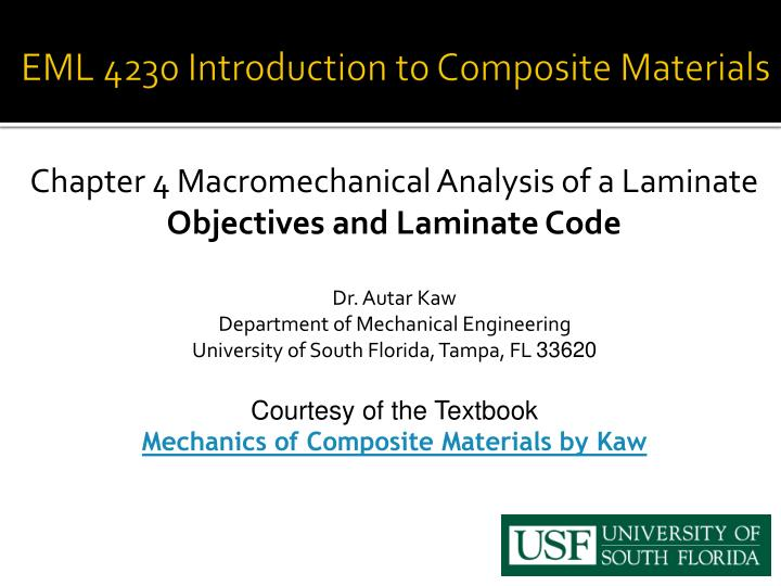 eml 4230 introduction to composite materials n.