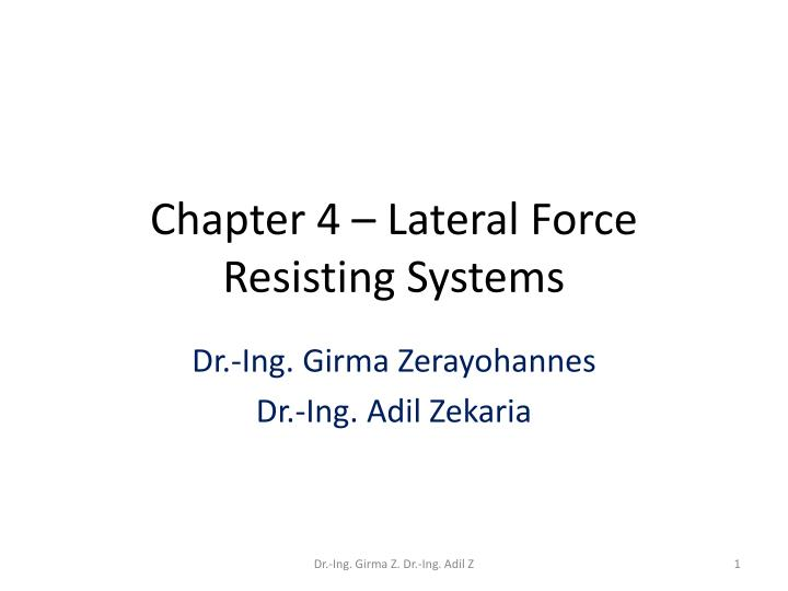 chapter 4 lateral force resisting systems n.