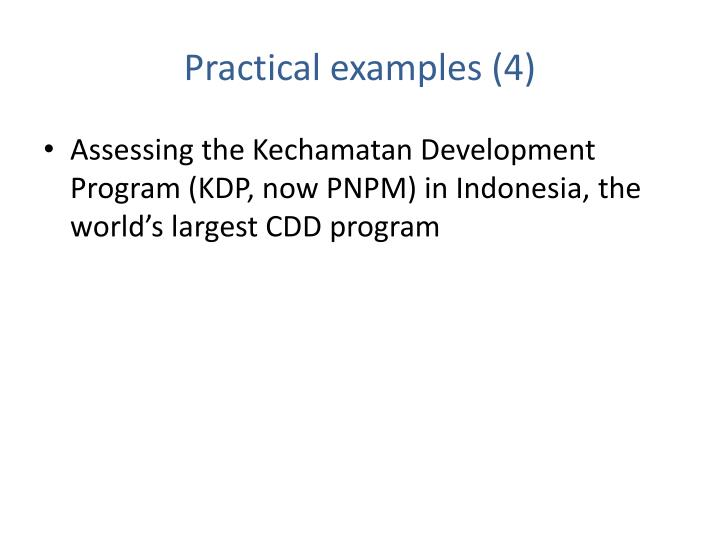 Practical examples (4)
