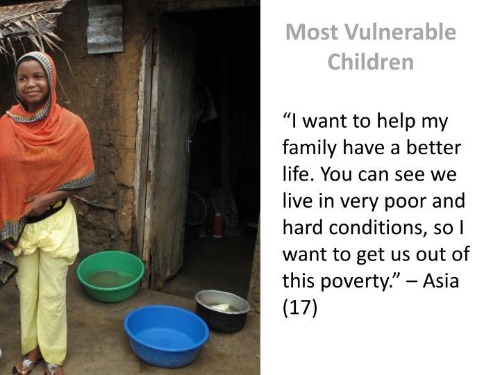 Most Vulnerable Children