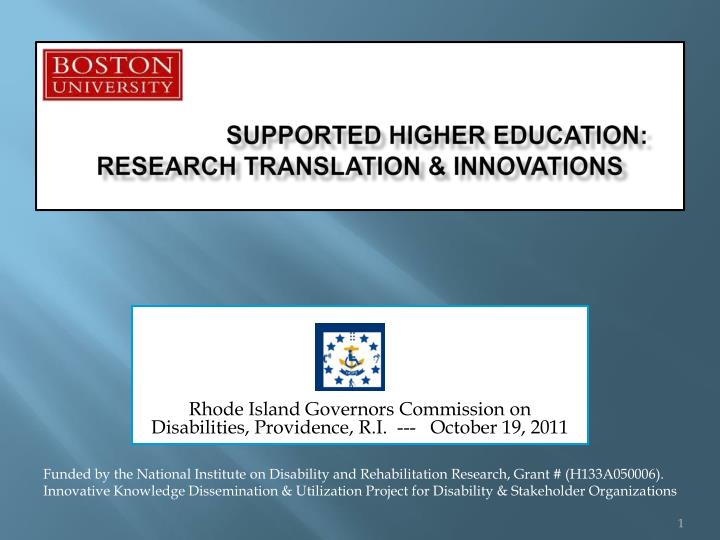 supported higher education research translation innovations
