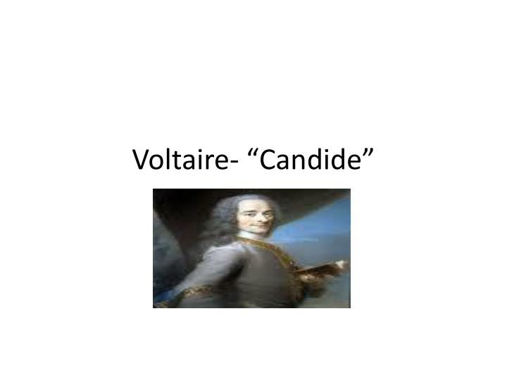 voltaire candide n.