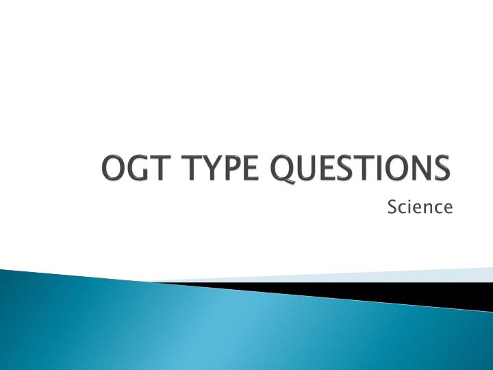 ogt type questions n.