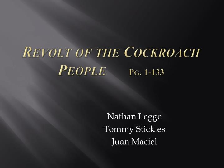 revolt of the cockroach people pg 1 133 n.