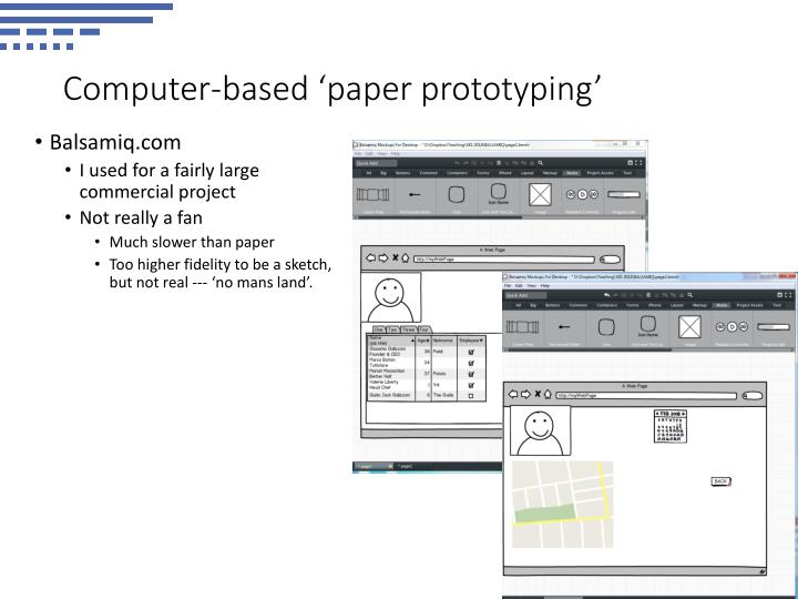 Computer-based 'paper prototyping'