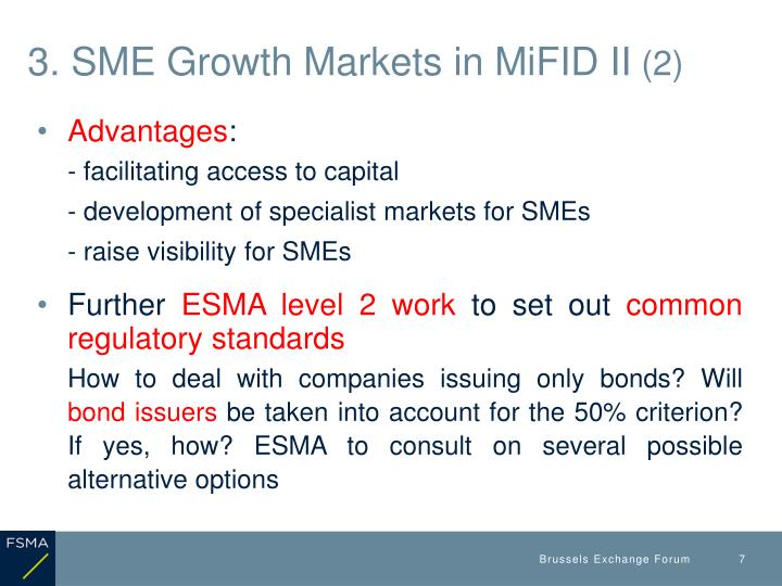 3. SME Growth Markets in MiFID II
