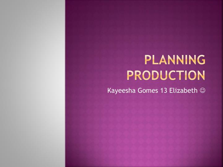 planning production n.